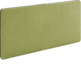 Akustický nástenný panel / nástenka Zip, 1400x650 mm, zelená