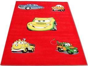 Detský kusový koberec CARS červený, Velikosti 160x220cm