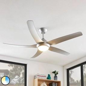 Starluna Dora stropný LED ventilátor 5 lopatiek Ag
