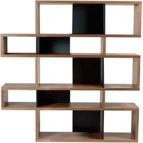 Knihovna Evora II. 160 cm, ořech/černá 9500.314957 Porto Deco