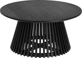 Čierny konferenčný stolík z teakového dreva La Forma Irune, ⌀ 80 cm