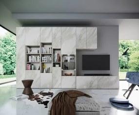 Obývacia stena Arnave (sonoma arwen/biely mat)