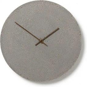 CLOCKIES CEMENT 30 nástenné hodiny Sivá Orechové drevo