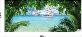 Fototapeta GLIX - Tropical Beach Paradise Island + lepidlo ZADARMO Vliesová tapeta  - 250x104 cm