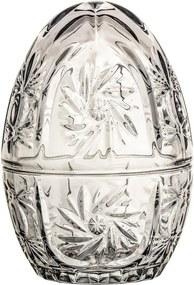 Sivá sklenená dekoratívna dóza v tvare vajca Bloomingville