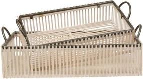 CÔTÉ TABLE Dekoratívny úložný box White Wood Menší