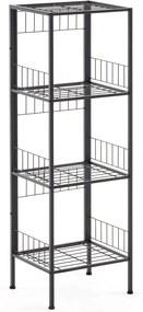 Čierny polícový regál La Forma Staffan, 103 × 34 cm