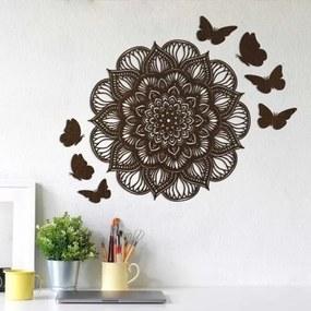 Dekoračné 3D motýle na stenu 6 ks
