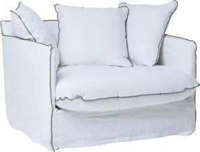 Biele kreslo Kare Design Santorini