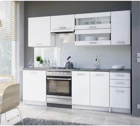 Kuchyňská linka 2,4m, bílá, FABIANA 0000108399 Tempo Kondela