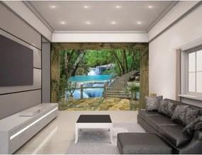 WATERFALL - WALLTASTIC® 3D FOTOTAPETA The View Collection (3602) NELICENČNÉ / ZVIERATÁ, KVETY, DINOSAURI... WAL2994