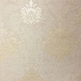 Vliesové tapety, damašek krémový, La Veneziana 3 57923, MARBURG, rozmer 10,05 m x 0,53 m