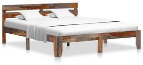 vidaXL Posteľný rám, drevený masív sheesham 140x200 cm