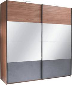 Skriňa s posúvacími dverami, orech/grafit, 250x219, REKATO