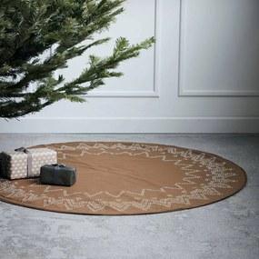 House Doctor Bavlnený koberec pod vianočný stromček Noel Brown
