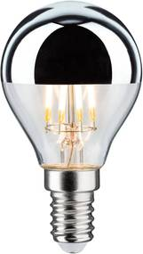 LED E14 827 zrkadlová striebro 4,8W stmievateľná
