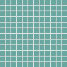Mozaika Rako Color Two tyrkysová 30x30 cm mat GDM02467.1