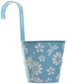 Závesný kvetináč Flowers modrá, pr. 14 cm