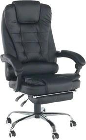 TEMPO KONDELA Tichon New kancelárske kreslo s podrúčkami čierna / chróm
