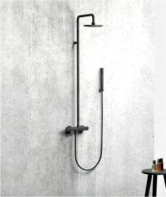 Alpi Blue - sprchový systém, komplet, čierna matná 95RM2251 NE