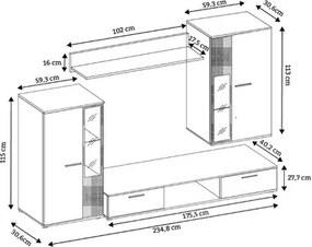 Obývacia stena OSKAR 5 wenge