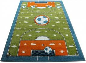 Detský koberec Futbalové ihrisko zelený, Velikosti 240x330cm