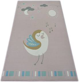 3kraft Kusový koberec LOKO Bird ružový