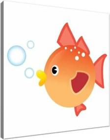 Obraz na plátne Oranžová rybka 30x30cm 3099A_1AI