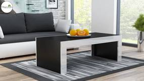 Mazzoni MILA čierna / biela lesk, konferenčný stolík
