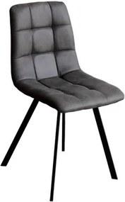 OVN stolička IDN 4094 šedá mikrovlákno / čierna