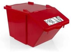 Odpadkový kôš na triedený odpad TTS, objem 45 l, červený