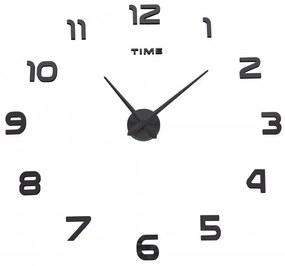 TZB Nástenné hodiny DIY NEPRI 65 - 130 cm - čierne 3D