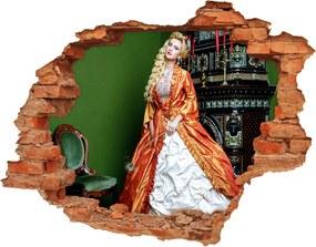 Fotoobraz diera na stenu Čiernobiele pásky WallHole-cegla-90x70-98628930