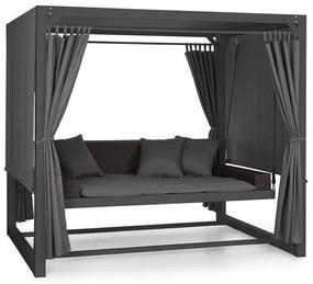 Eremitage, luxusná záhradná hojdačka, 236 x 180 x 210 cm, tmavosivá/čierna