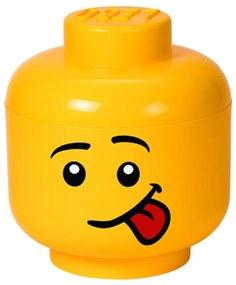 Žltý úložný box v tvare LEGO® Silly L