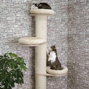 Kerbl Škrabadlo pre mačky Dolomit Tower, béžové 187 cm