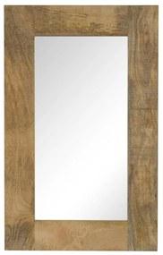 vidaXL Zrkadlo masívne mangovníkové drevo 50x80 cm