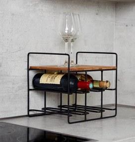 WENKO Loft regál na víno Loft, na 6 lahví