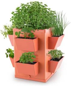 Waldbeck Herbie Hero kvetináč 8 misiek na rastliny PP tehlová farba