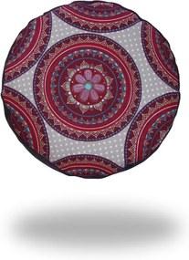 Ing. Klára Patočková - Obchod s radostí Meditační sedák s vínovou mandalou, fialový - 12 x 30 cm cm