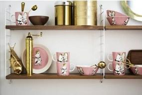 Set hrnčeka a taniera Snorkmaiden, ružový Arabia