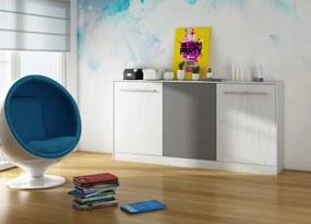 WIP Moderná sklápacia posteľ ROGER Farba: craft biely/grafit