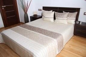 DomTextilu Luxusný prehoz na posteľ svetlo béžový Šírka: 200 cm | Dĺžka: 220 cm 2458-103946
