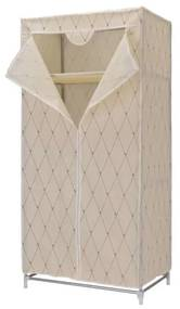 TZB Textilná šatníková skriňa Gallo - béžová