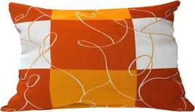 Dekoračný vankúšik Šach oranžový