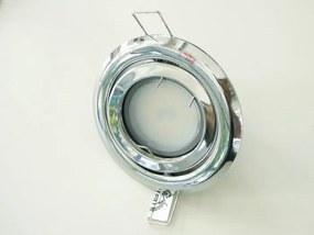 T-LED LED bodové svetlo do sadrokartónu 3W chróm 230V výklopné Farba svetla: Teplá biela
