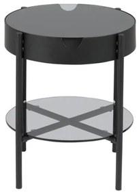 Tipton príručný stolík čierny