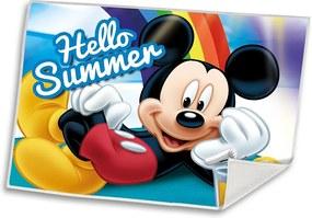 EUROSWAN Detský uteráčik Mickey Summer Polyester, 30/40 cm