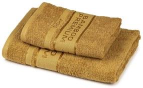 4Home Sada Bamboo Premium osuška a uterák svetlohnedá, 70 x 140 cm, 50 x 100 cm