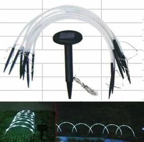 Záhradné solárne LED osvetlenie oblúk - 8 ks